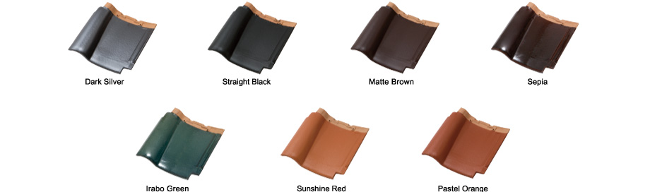 Dark Silver, Straight Black, Matte Brown, Sepia, Irabo Green, Sunshine Red, Pastel Orange